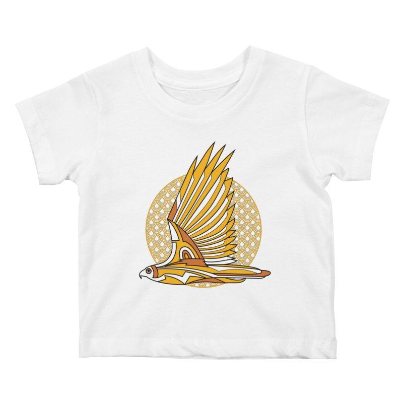 Hawk Deco 3 Kids Baby T-Shirt by Qetza