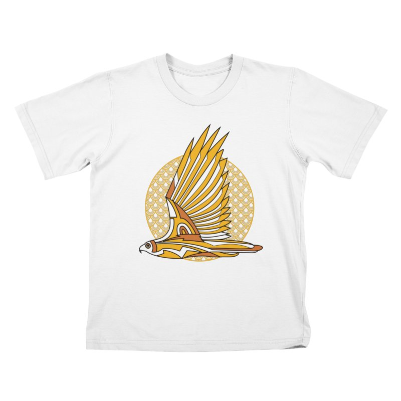 Hawk Deco 3 Kids T-shirt by Qetza