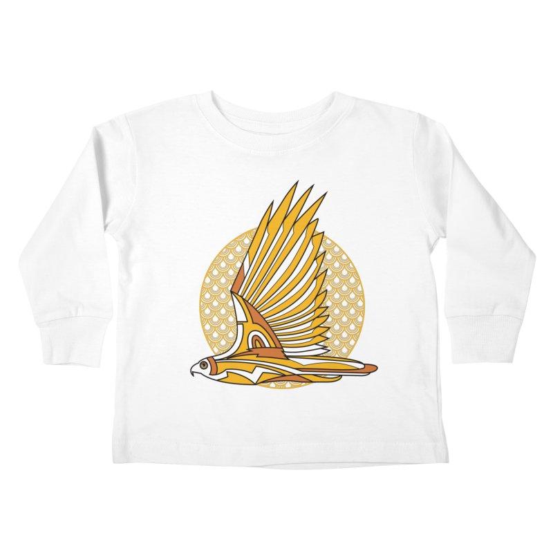 Hawk Deco 3 Kids Toddler Longsleeve T-Shirt by Qetza