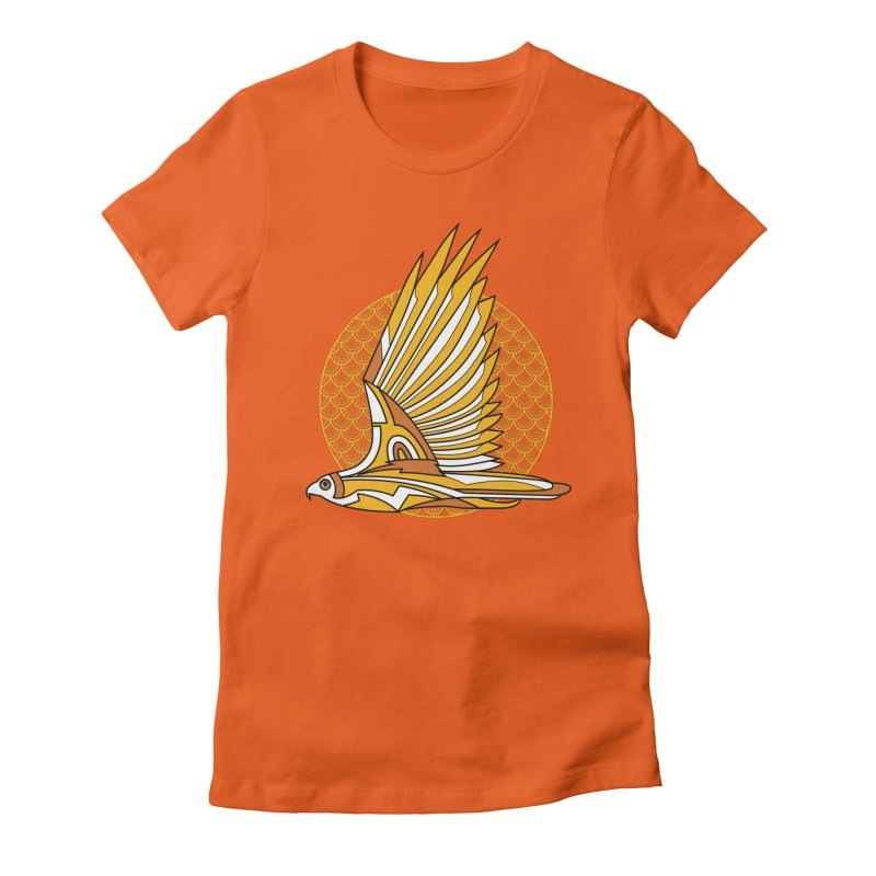 Hawk Deco 3 Women's Fitted T-Shirt by Qetza