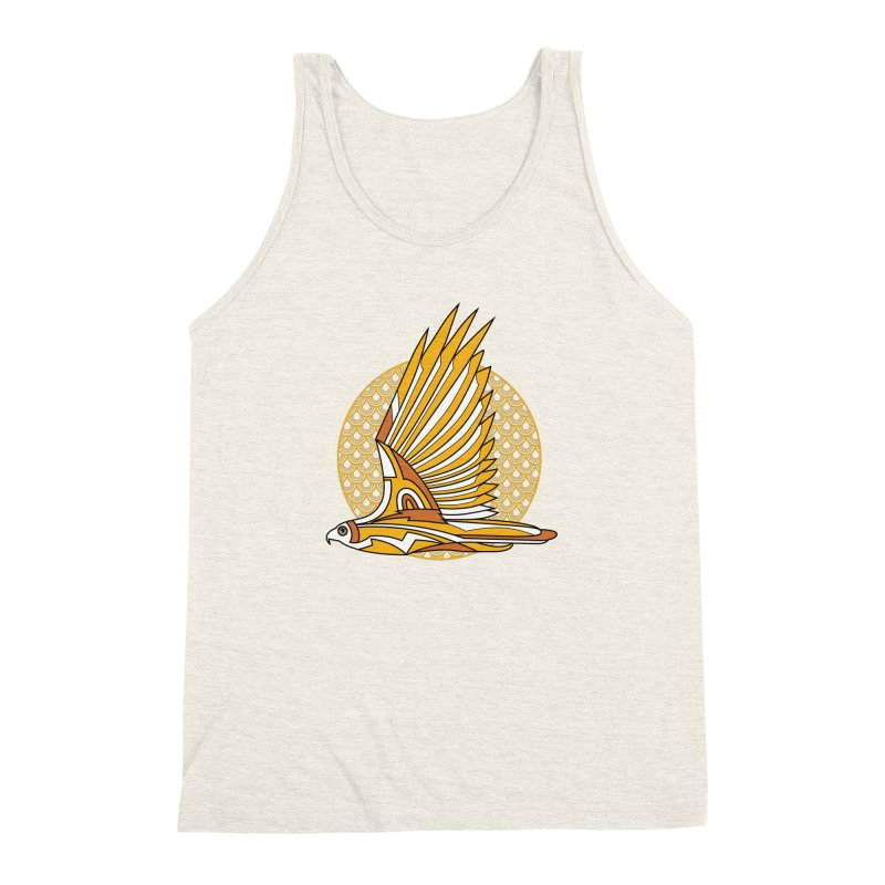 Hawk Deco 3 Men's Triblend Tank by Qetza