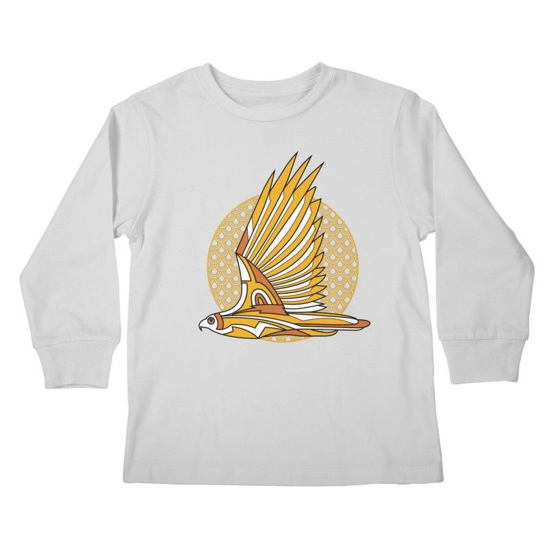 Hawk Deco 3 Kids Longsleeve T-Shirt by Qetza