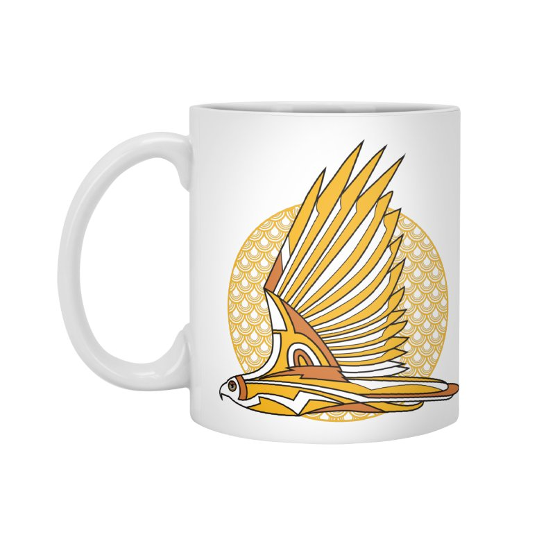Hawk Deco 3 Accessories Mug by Qetza