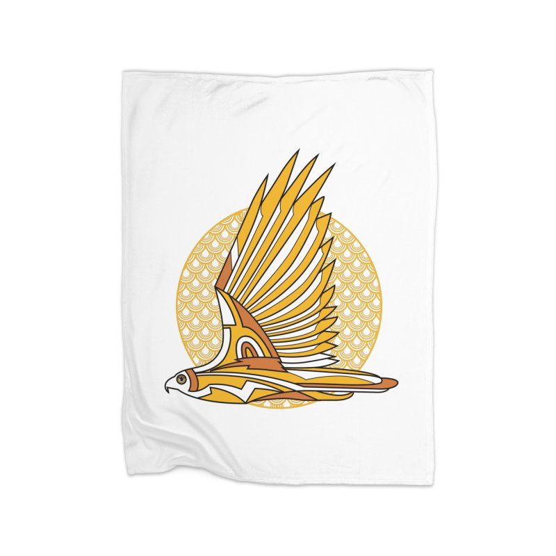Hawk Deco 3 Home Blanket by Qetza