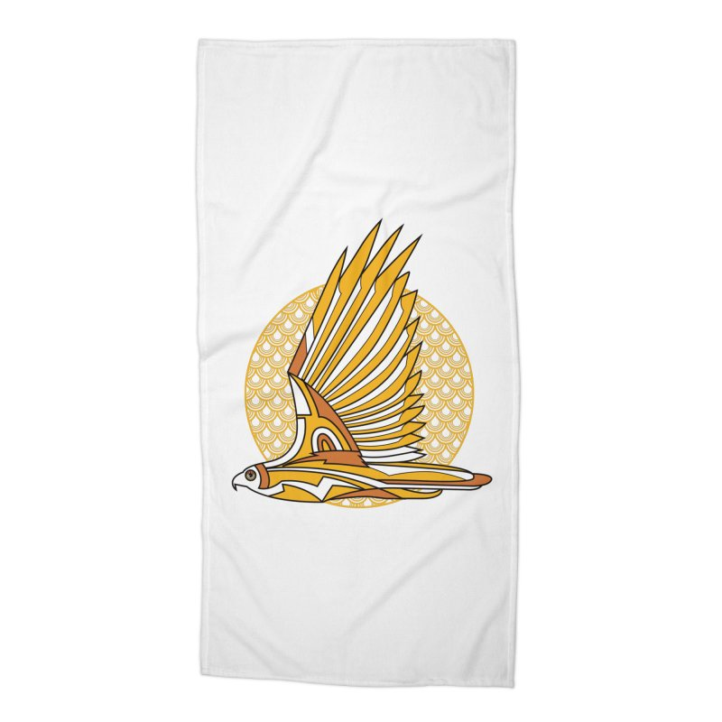 Hawk Deco 3 Accessories Beach Towel by Qetza