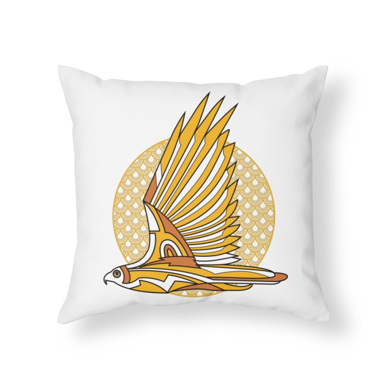 Hawk Deco 3 Home Throw Pillow by Qetza