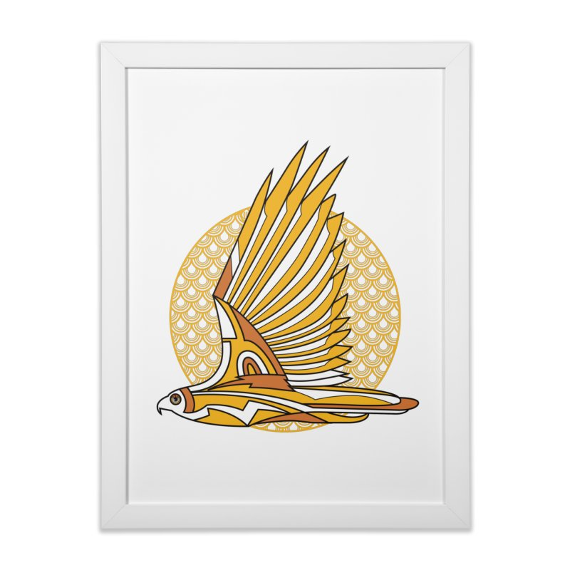 Hawk Deco 3 Home Framed Fine Art Print by Qetza