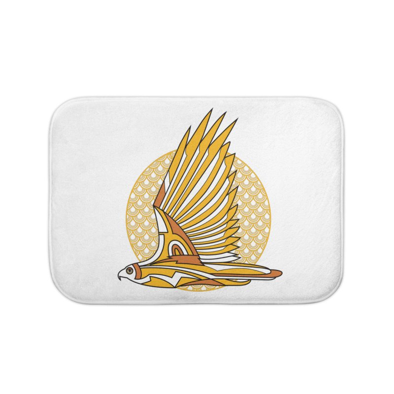 Hawk Deco 3 Home Bath Mat by Qetza