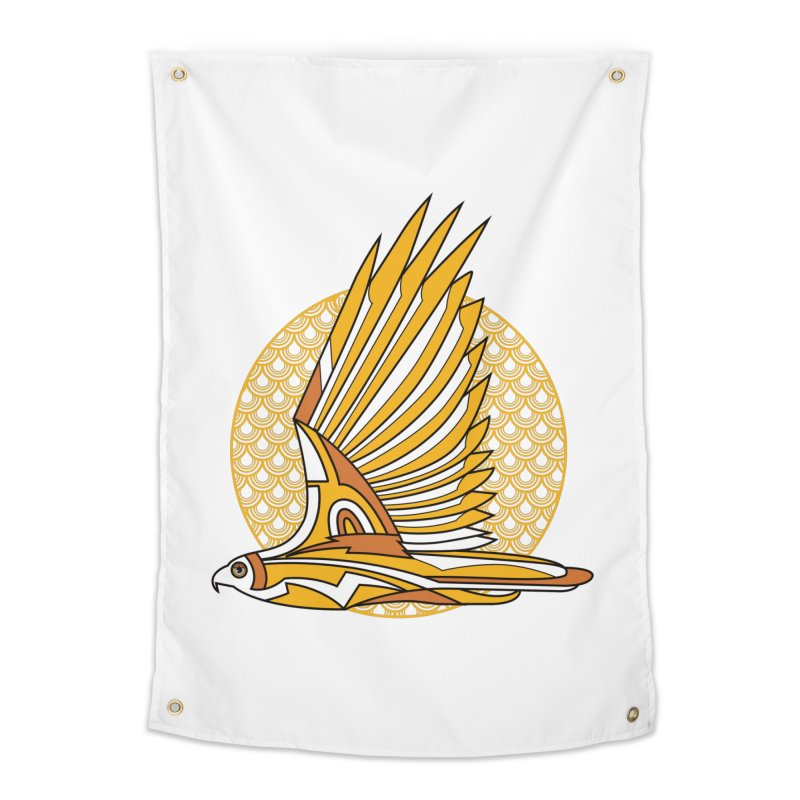 Hawk Deco 3 Home Tapestry by Qetza