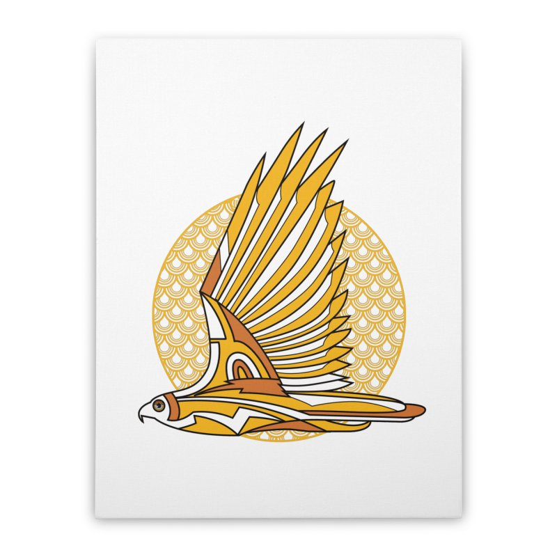 Hawk Deco 3 Home Stretched Canvas by Qetza