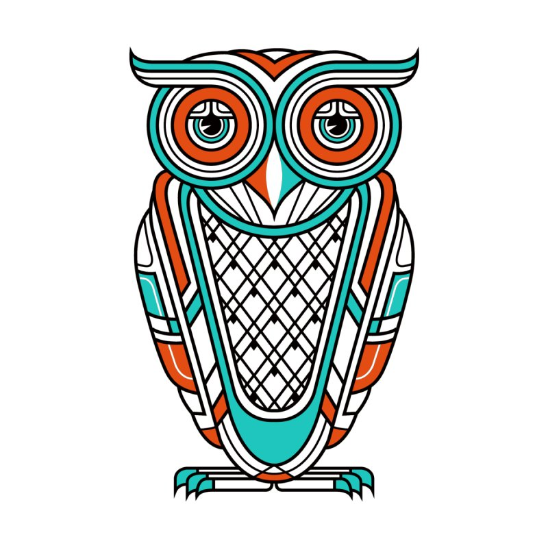 Art Deco Owl None  by Qetza