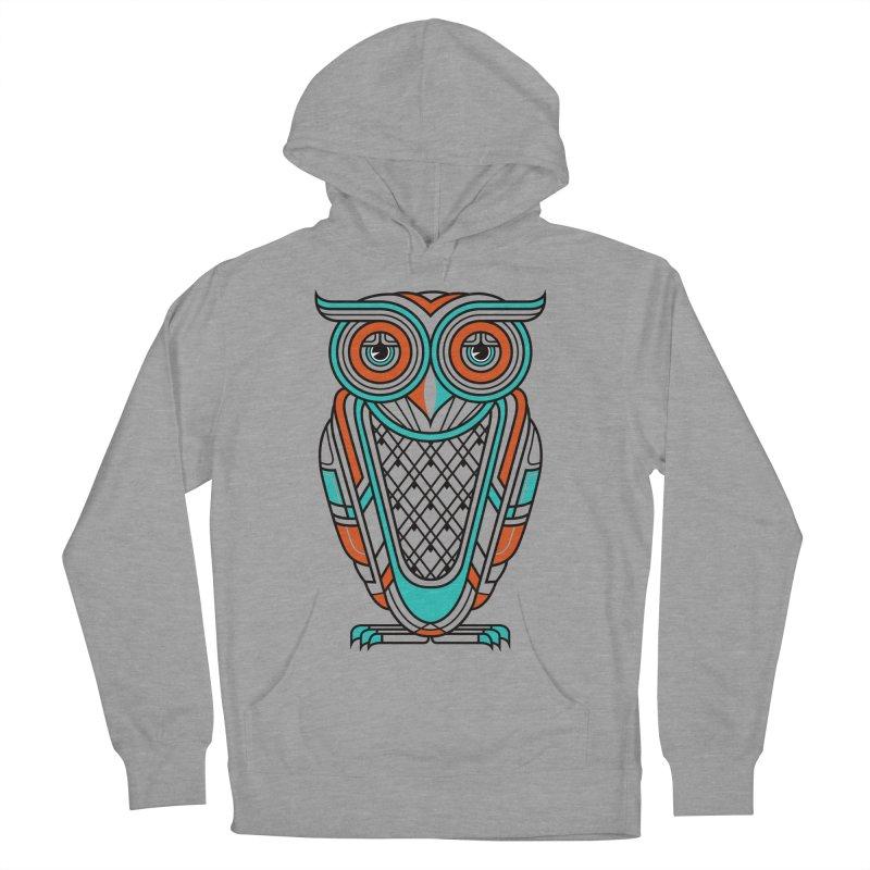 Art Deco Owl Men's Pullover Hoody by Qetza