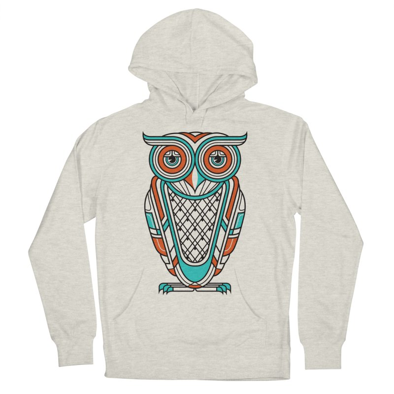 Art Deco Owl Men's Pullover Hoody by Qetza