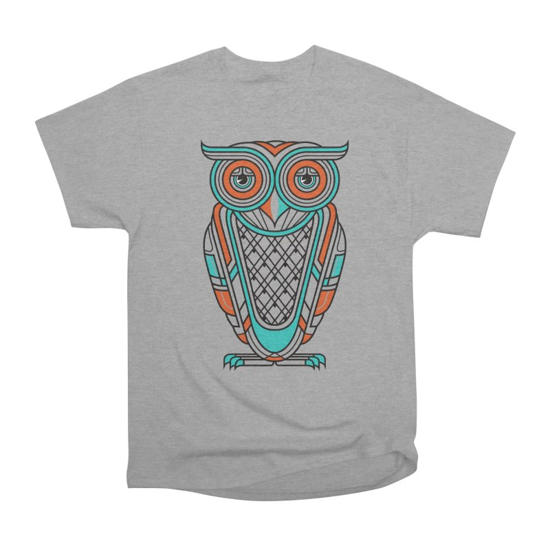 Art Deco Owl Men's Classic T-Shirt by Qetza