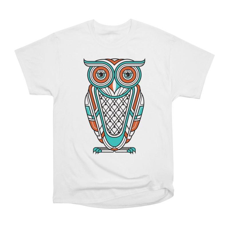 Art Deco Owl Women's Classic Unisex T-Shirt by Qetza