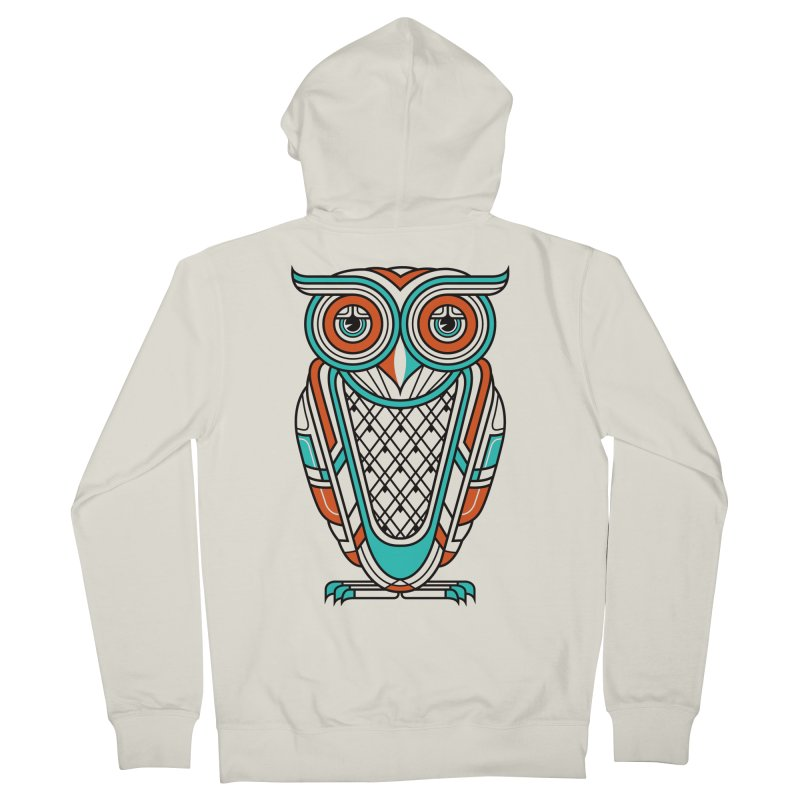 Art Deco Owl Women's Zip-Up Hoody by Qetza