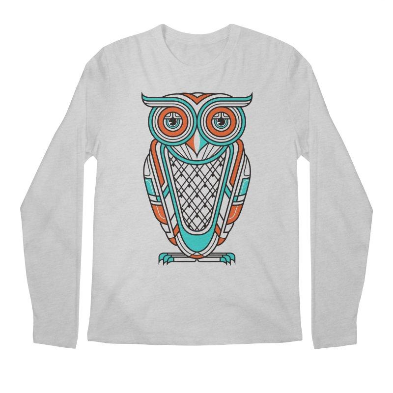 Art Deco Owl Men's Longsleeve T-Shirt by Qetza