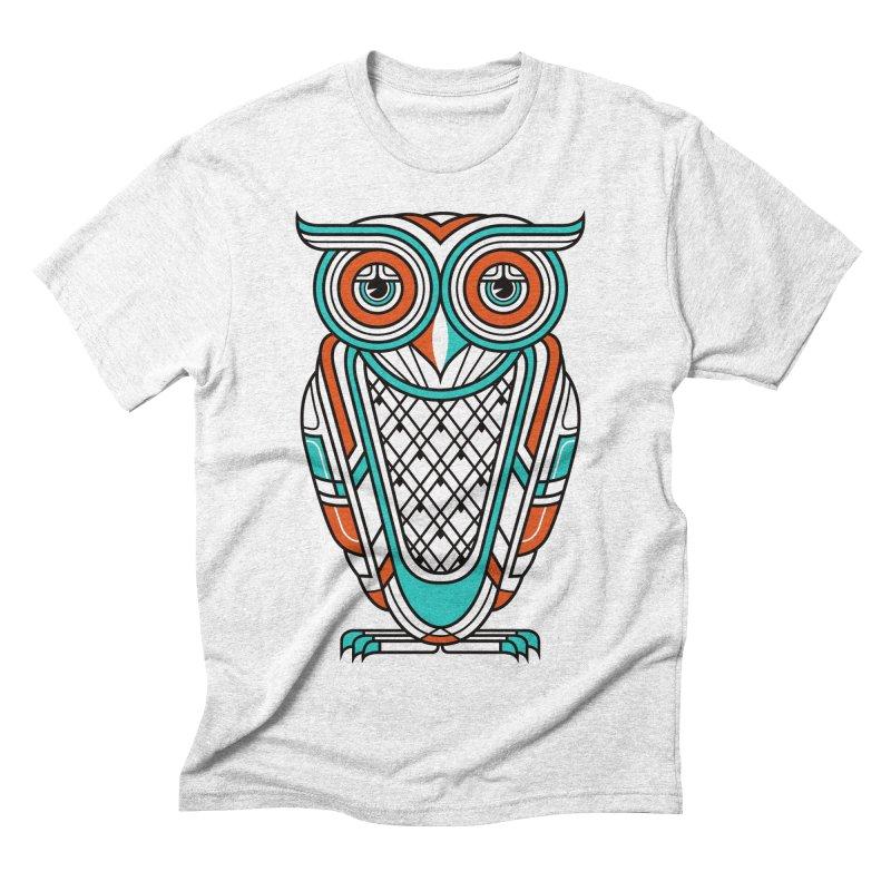 Art Deco Owl Men's Triblend T-shirt by Qetza