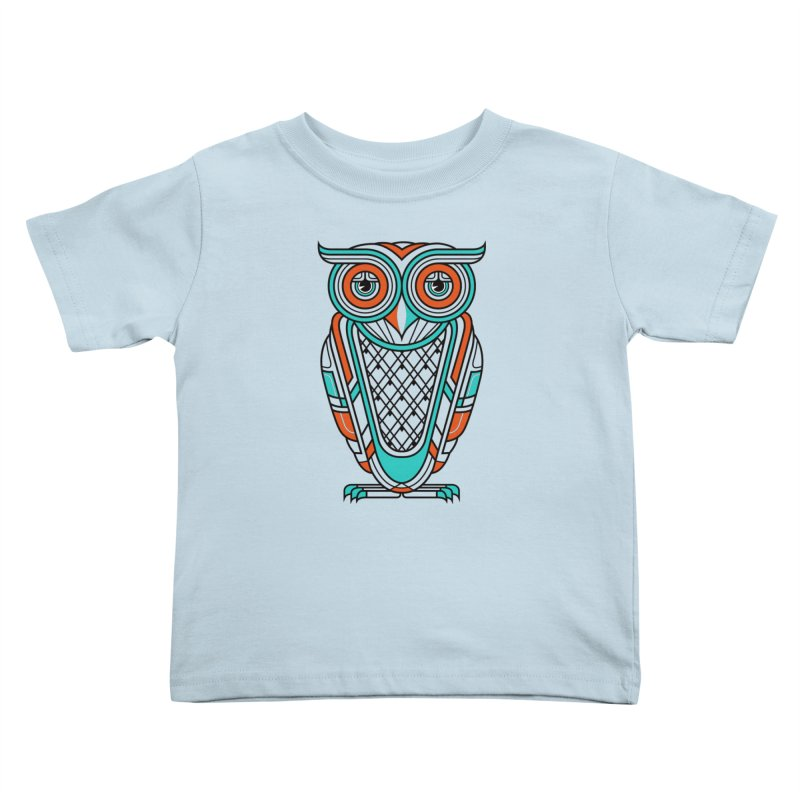 Art Deco Owl Kids Toddler T-Shirt by Qetza
