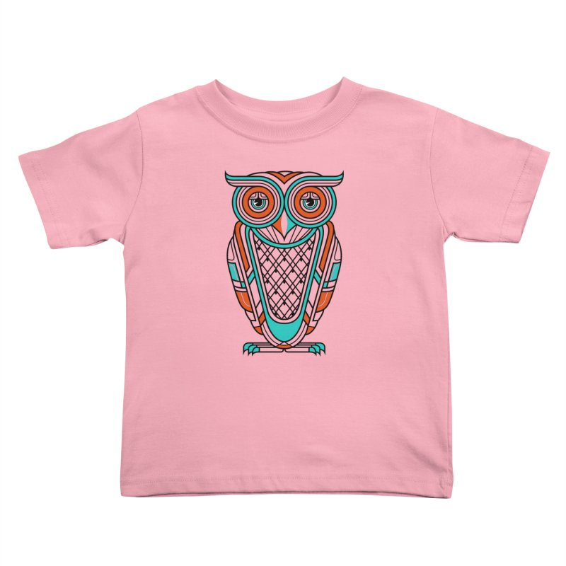 Art Deco Owl Kids Toddler T-Shirt by Qetza