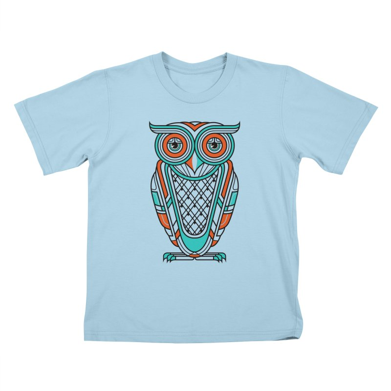 Art Deco Owl Kids T-shirt by Qetza