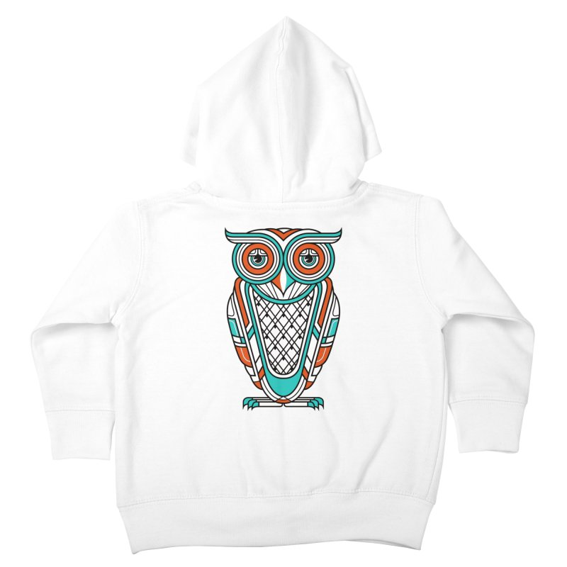 Art Deco Owl Kids Toddler Zip-Up Hoody by Qetza