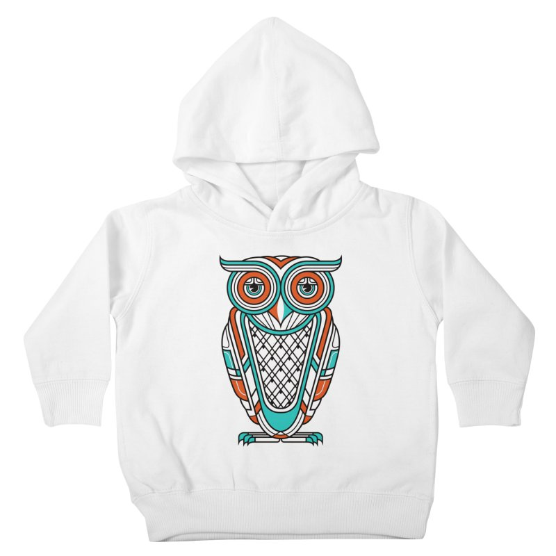 Art Deco Owl Kids Toddler Pullover Hoody by Qetza