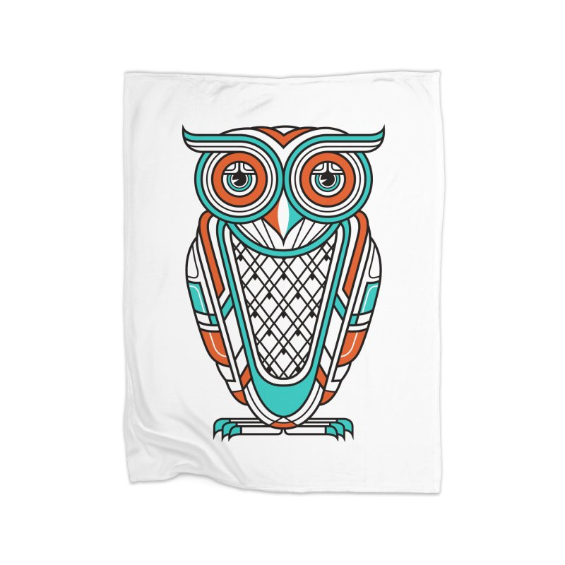 Art Deco Owl Home Blanket by Qetza