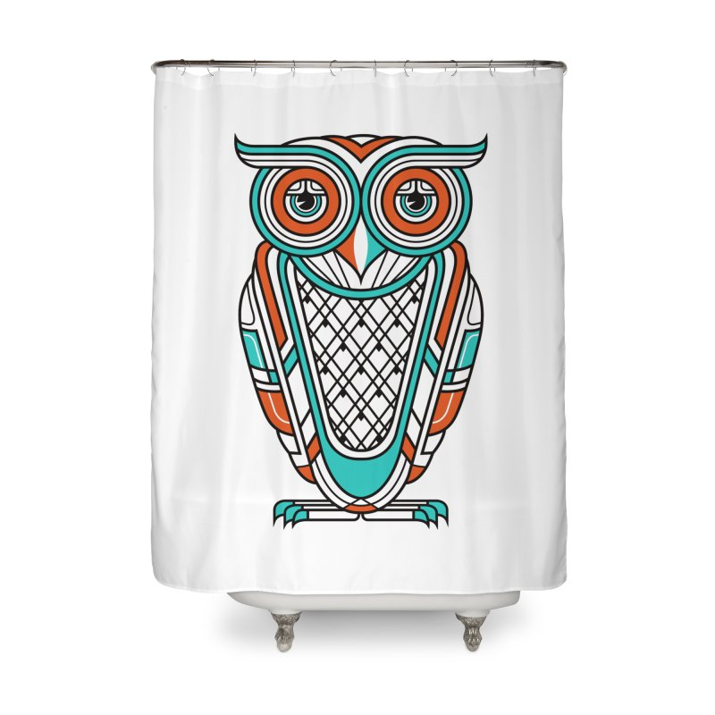 Art Deco Owl Home Shower Curtain by Qetza