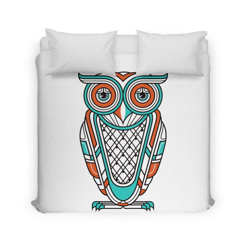 Art Deco Owl Home Duvet by Qetza