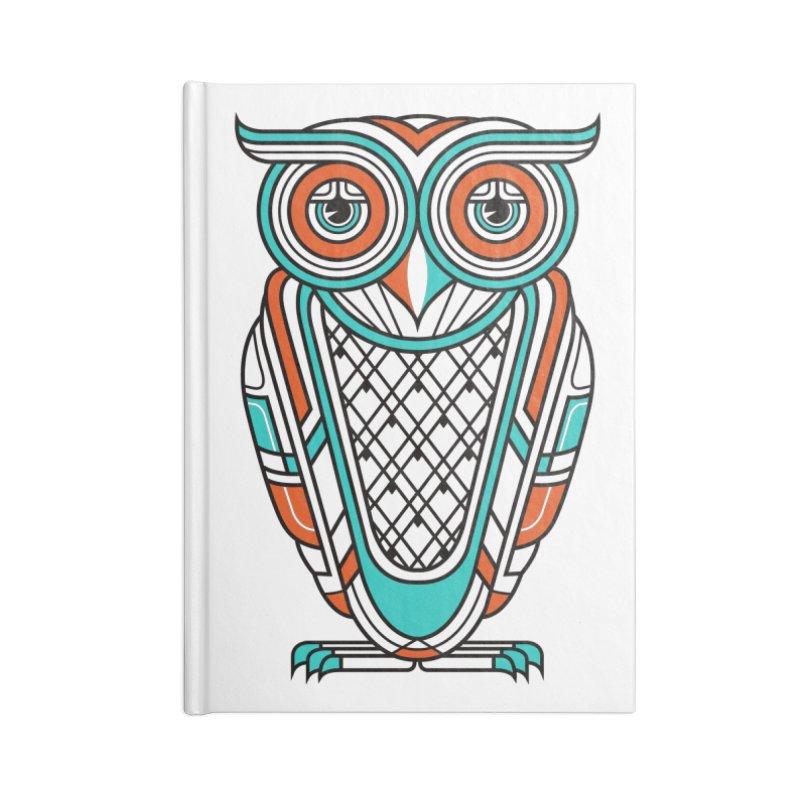 Art Deco Owl Accessories Notebook by Qetza