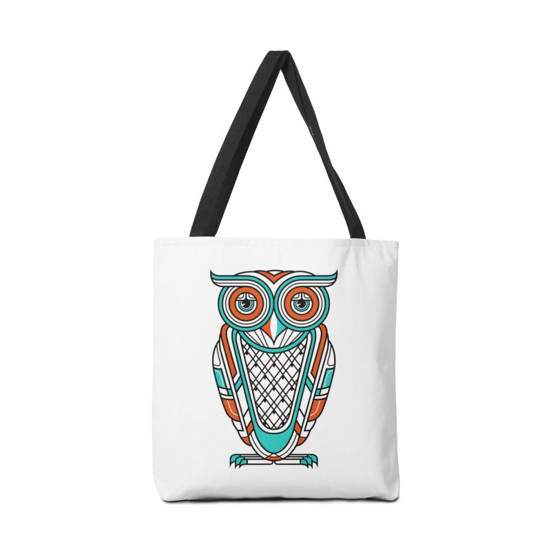 Art Deco Owl Accessories Bag by Qetza