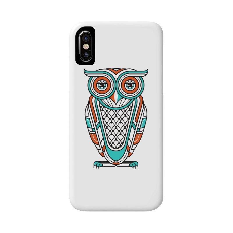 Art Deco Owl Accessories Phone Case by Qetza