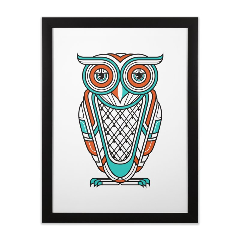 Art Deco Owl Home Framed Fine Art Print by Qetza