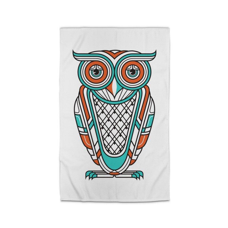 Art Deco Owl Home Rug by Qetza