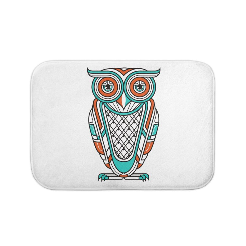 Art Deco Owl Home Bath Mat by Qetza