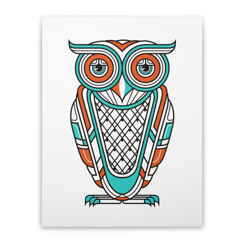 Art Deco Owl Home Stretched Canvas by Qetza