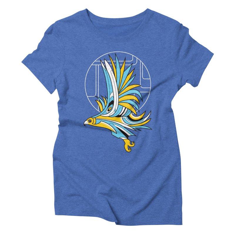 Hawk Deco Women's Triblend T-Shirt by Qetza
