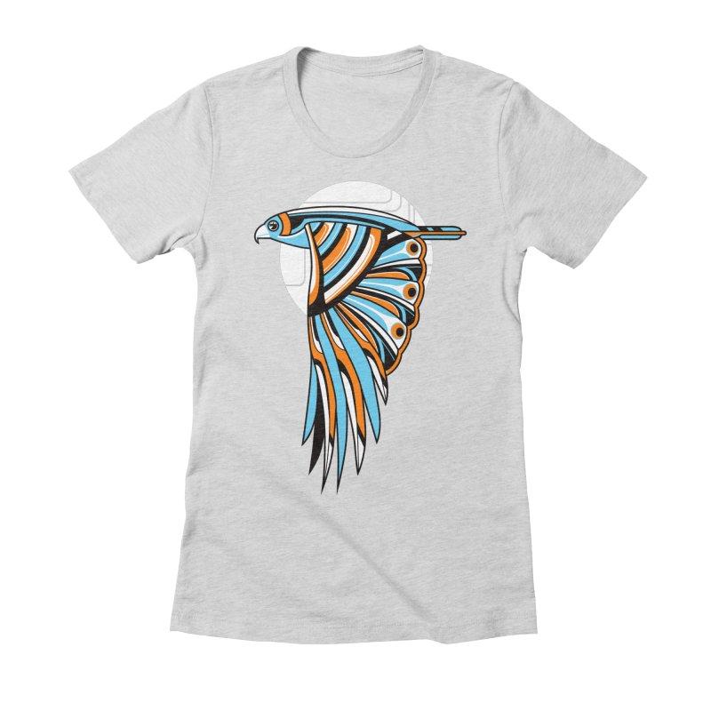 Hawk Deco 2 Women's Fitted T-Shirt by Qetza