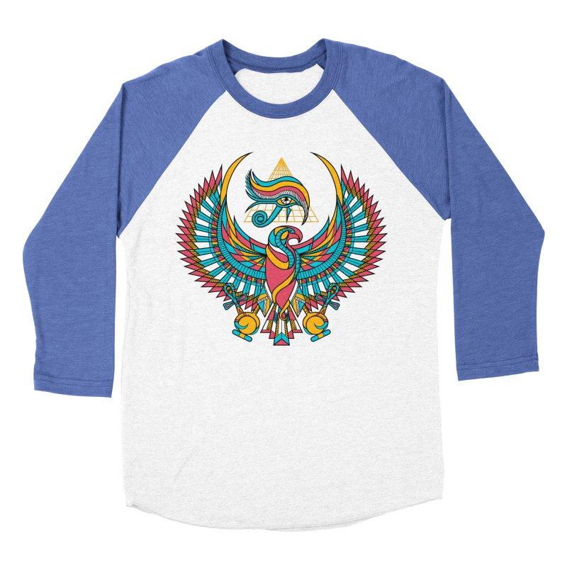 Eye of Horus Women's Baseball Triblend T-Shirt by Qetza