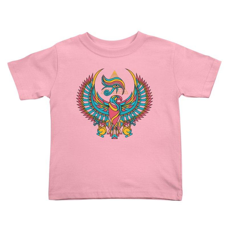 Eye of Horus Kids Toddler T-Shirt by Qetza