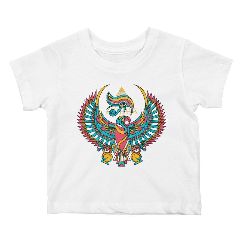 Eye of Horus Kids Baby T-Shirt by Qetza