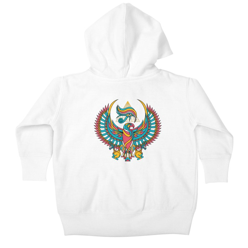 Eye of Horus Kids Baby Zip-Up Hoody by Qetza