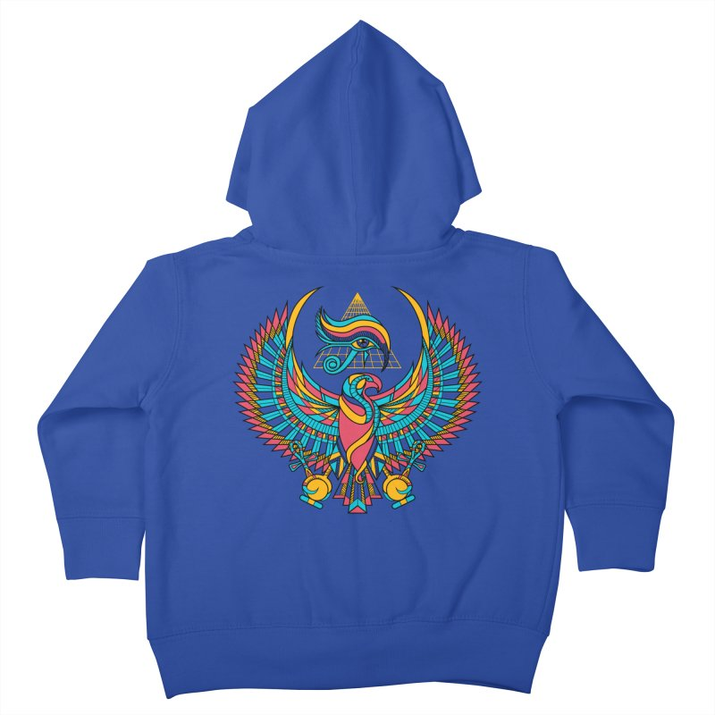 Eye of Horus Kids Toddler Zip-Up Hoody by Qetza