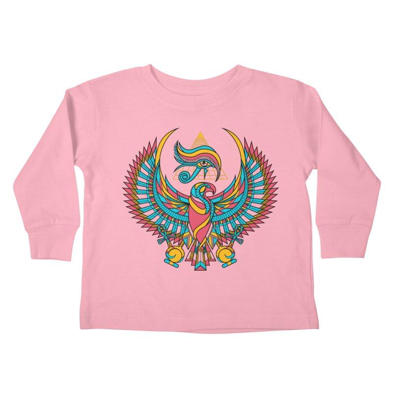 Eye of Horus Kids Toddler Longsleeve T-Shirt by Qetza