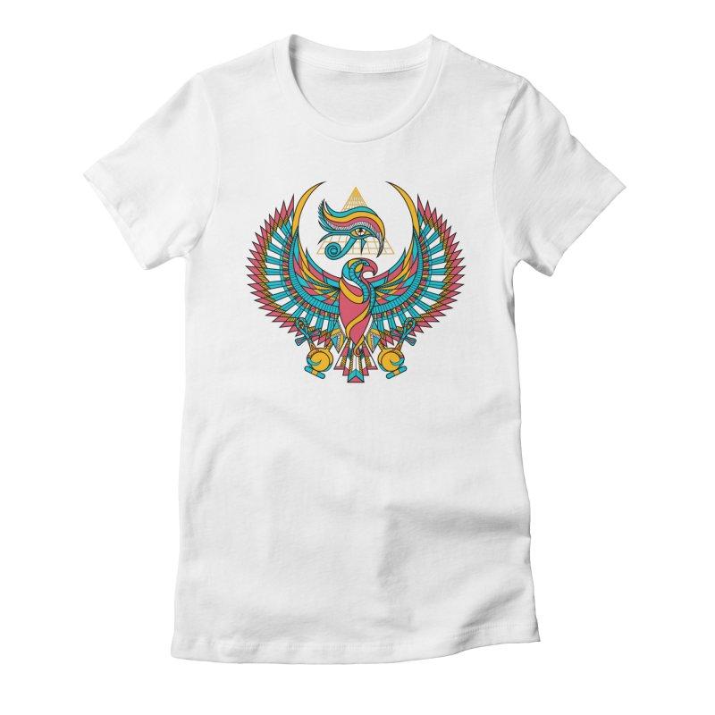 Eye of Horus Women's Fitted T-Shirt by Qetza