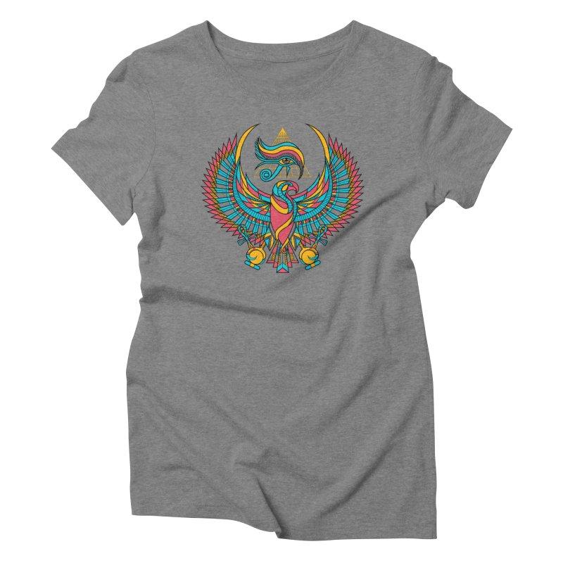 Eye of Horus Women's Triblend T-shirt by Qetza