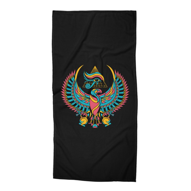 Eye of Horus Accessories Beach Towel by Qetza