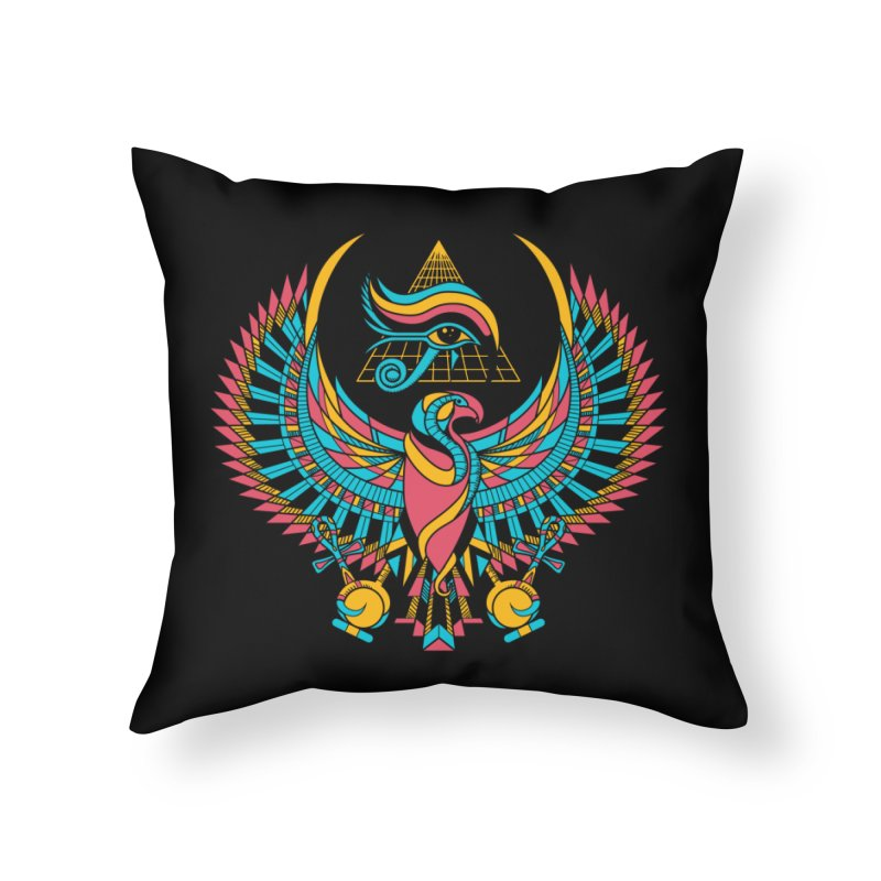 Eye of Horus Home Throw Pillow by Qetza