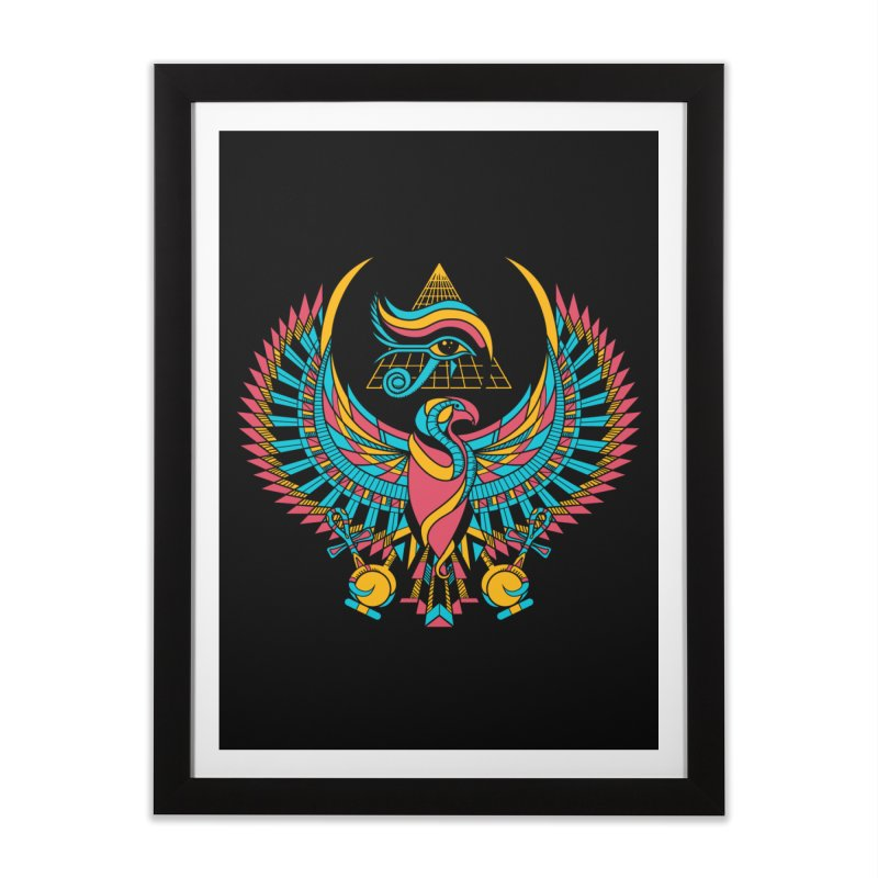 Eye of Horus Home Framed Fine Art Print by Qetza